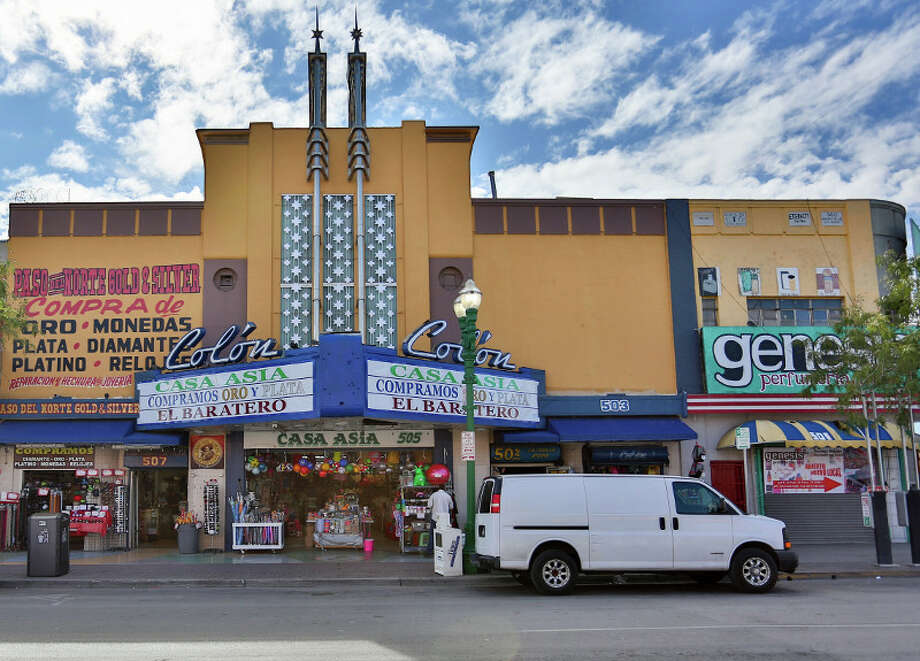 El Paso's Chihuahuita and El Segundo Barrio Neighborhoods are among the 11 most endangered historic sites. Pictured: Colón Theatre, 505 S. El Paso Street. Photo: Marc Stone