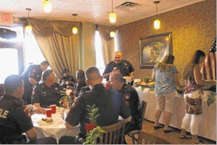 Law enforcement officers from all over the Northwest Houston area come to enjoy an appreciation lunch at New Seasons Bistro. Photo: Taelor Smith