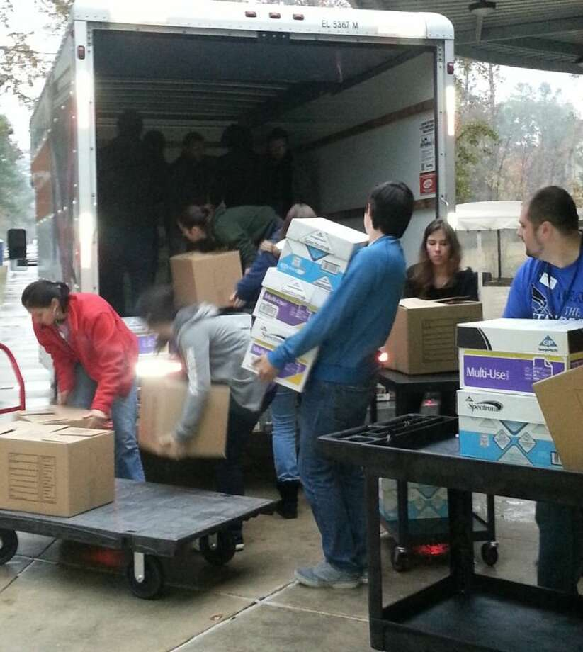 LSC-Montgomery College students, faculty and staff donated items to the Deerwood Community in Conroe over Christmas break, in partnership with the Texas Familias Council.