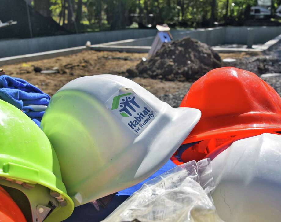 Northern Saratoga County Habitat for Humanity breaks ground for a new two-family home on Cherry St. Thursday Oct. 6, 2016 in Saratoga Springs, NY.  (John Carl D'Annibale / Times Union) Photo: John Carl D'Annibale / 20038309A