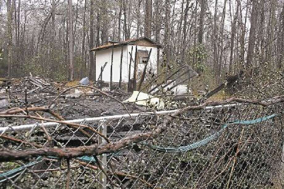 An autopsy has been ordered to determine the identity of a person whose charred remains were found inside of a house that burned to the ground on Tuesday, March 4, in Patton Village. Photo: STEPHANIE BUCKNER / @WireImgId=2665842