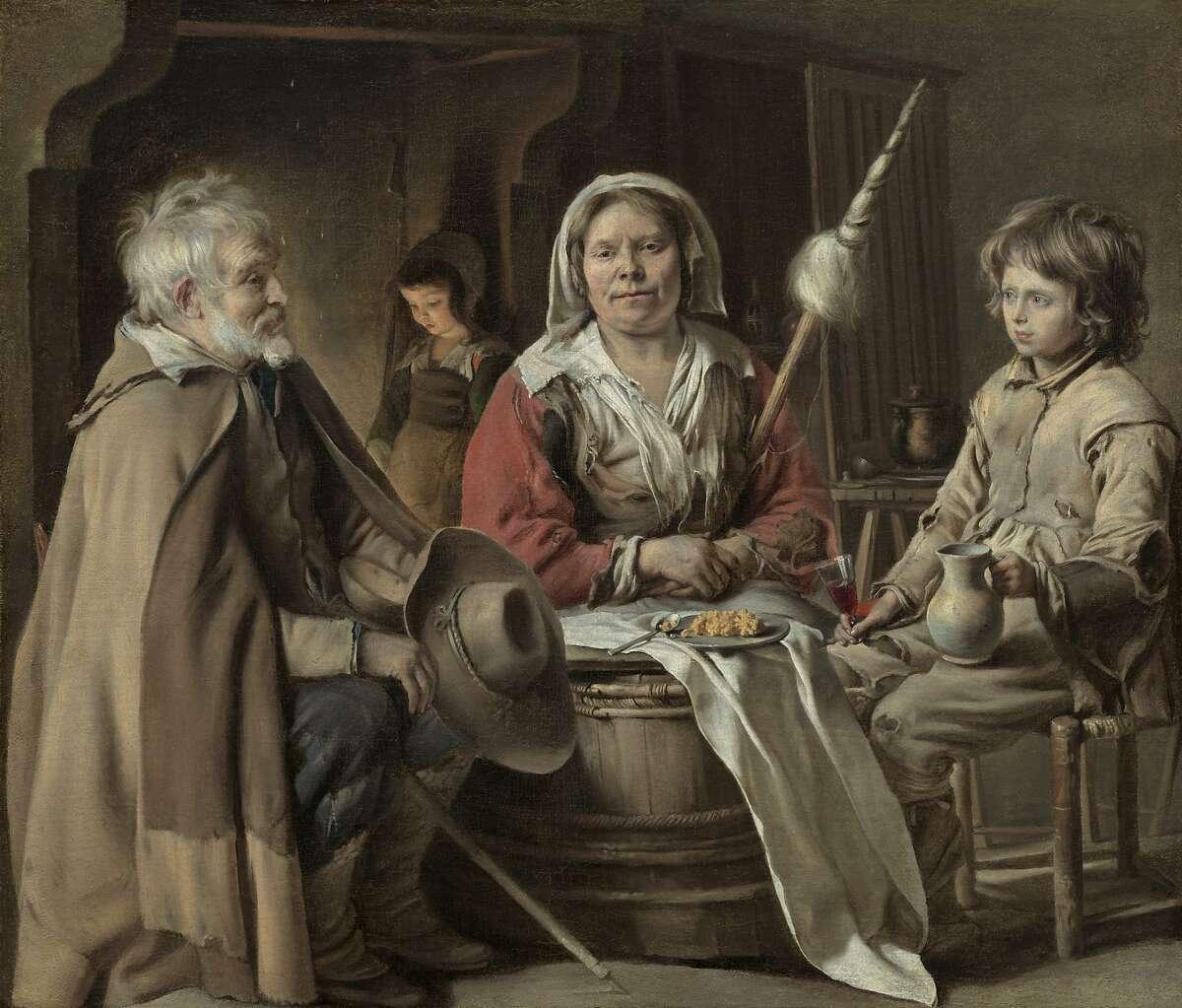 """Le Nain, """"Peasant Interior"""" (ca. 1640). Oil on canvas"""