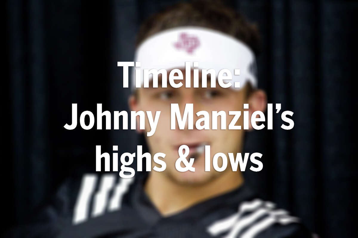 TIMELINE: Johnny Manziel's highs and lows in football Click through the gallery to relive the highs and lows Manziel has experienced throughout his football career from Kerrville High School to Texas A&M to the NFL.