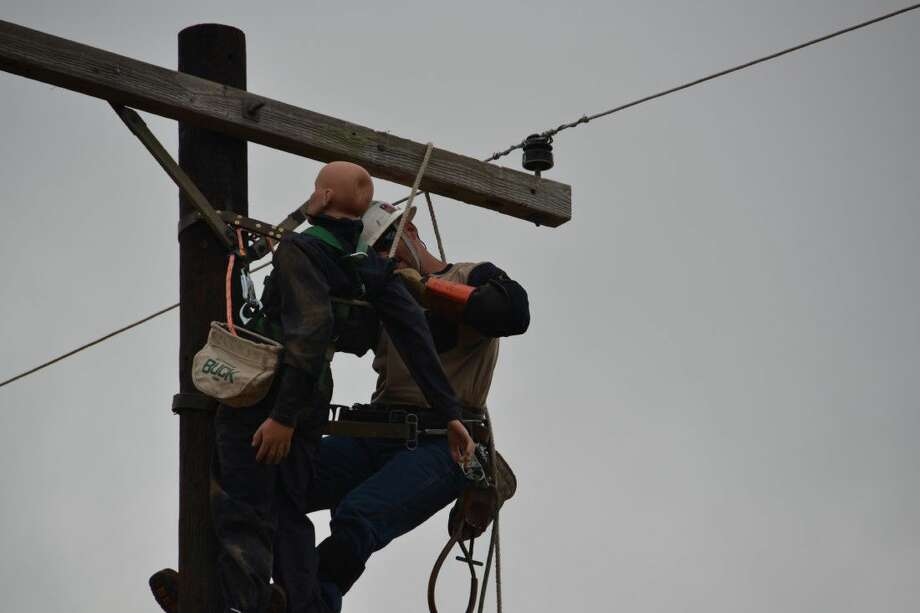 A CenterPoint Energy lineman competes at the 2016 Texas Lineman's Rodeo. Photo: Submitted Photo