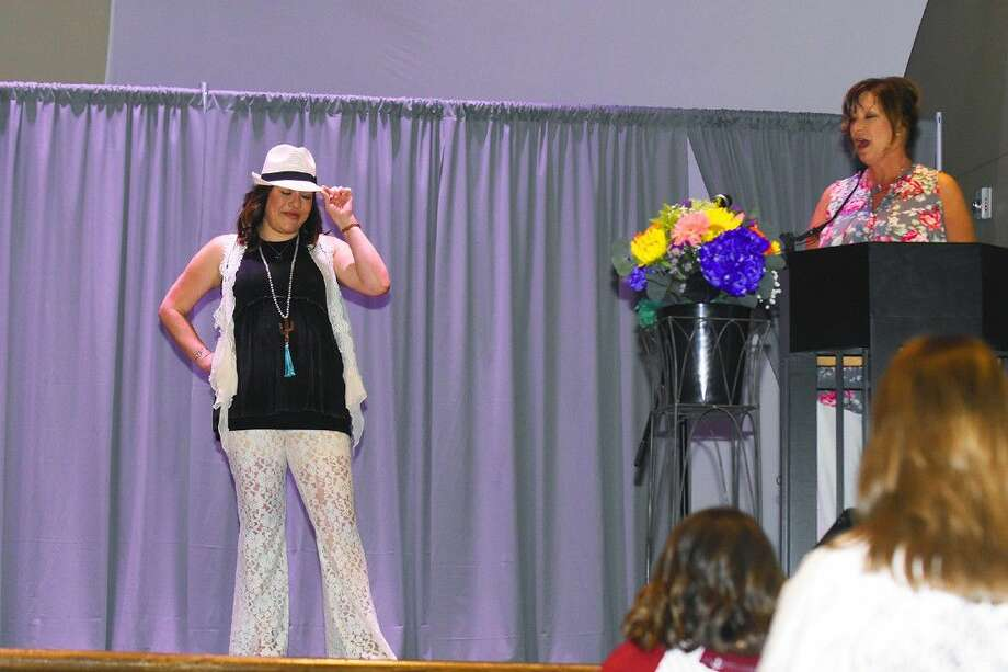 A model showing off the latest fashions at the The Fairfield Women's Club (FWC) first annual Fashion with Class Style Show on Saturday, July 30 at Good Shepherd United Methodist Church. Photo: Tony Gaines