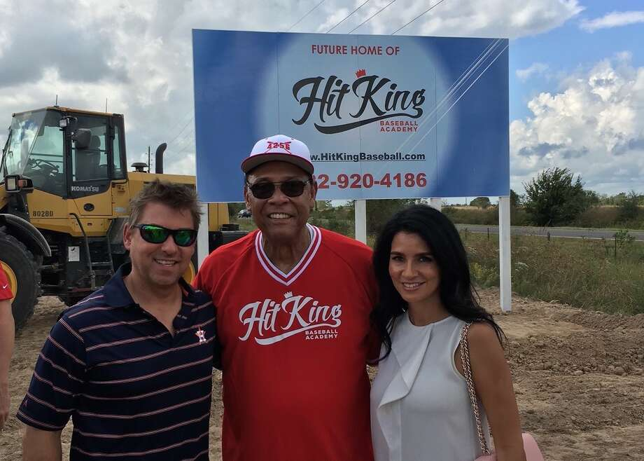 MTSIR's Maya Fasthoff with her husband, Hank, and MLB Hall of Famer Tony Perez were at the ground-breaking for new baseball academy in Katy.