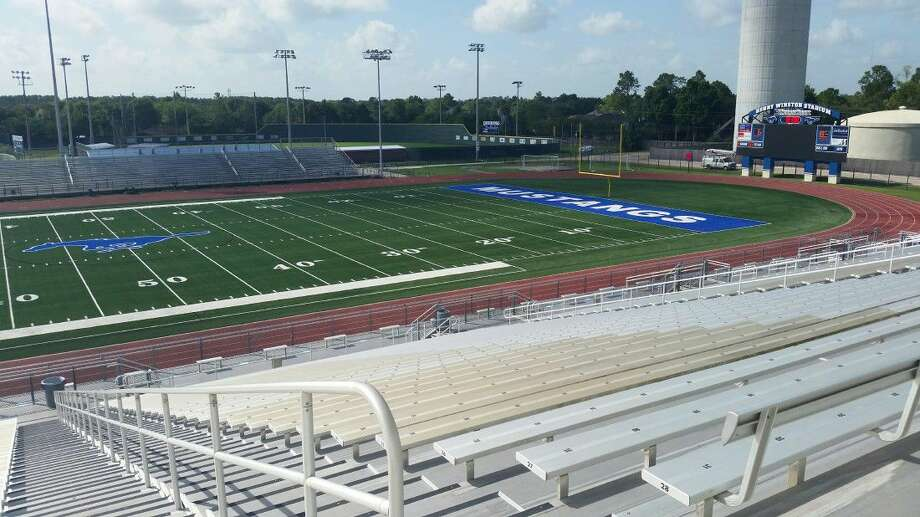 Friendswood's new turf football field at Henry Winston Stadium was completed Saturday, just in time for August workouts. Photo: Ted Dunnam