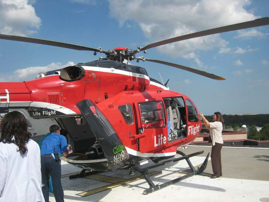 Guests had the chance to see Life Flight up-close-and-personal during the 40th anniversary party at Memorial Hermann Northeast Hospital in Humble Tuesday, Aug. 2, 2016.