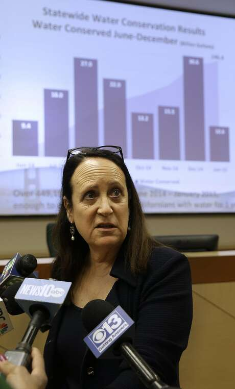 State water official Felicia Marcus warns that cuts could return. Photo: Rich Pedroncelli, Associated Press