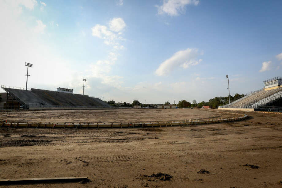 Tomball ISD stadium undergoes renovations on Thursday, May 22, 2014, at Tomball High School. Photo: Michael Minasi