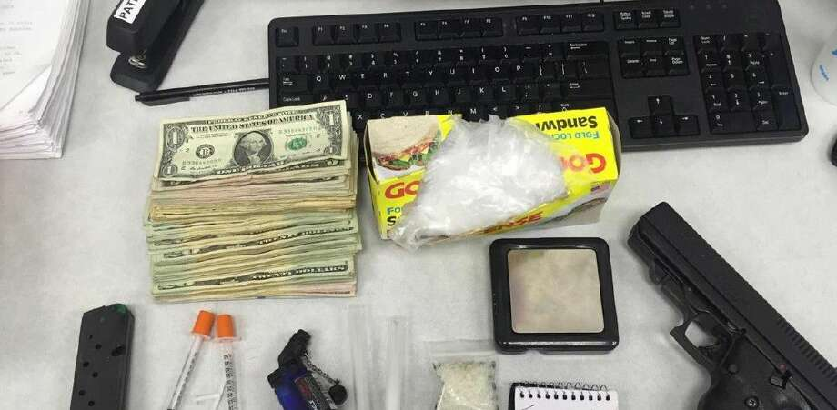 Deputies confiscated cash, a handgun and methamphetamines.