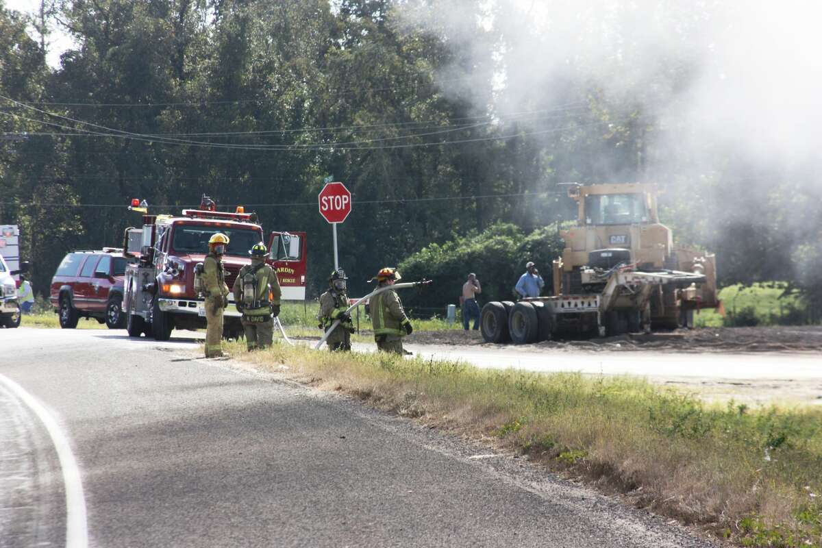 A 25-year-old truck driver was electrocuted in Liberty County on Thursday morning when the bed of his dump truck struck a power line, authorities said.