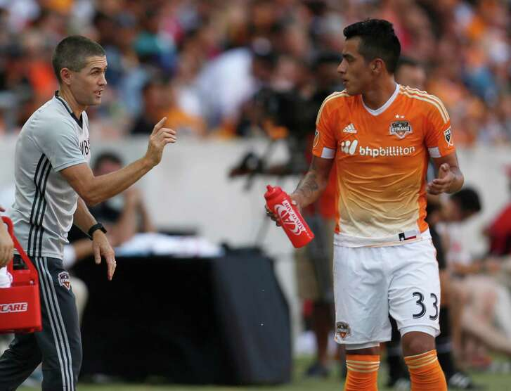 When the Dynamo and interim coach Wade Barrett, left, face Colorado this week, they'll see a team that they could look like in the future.