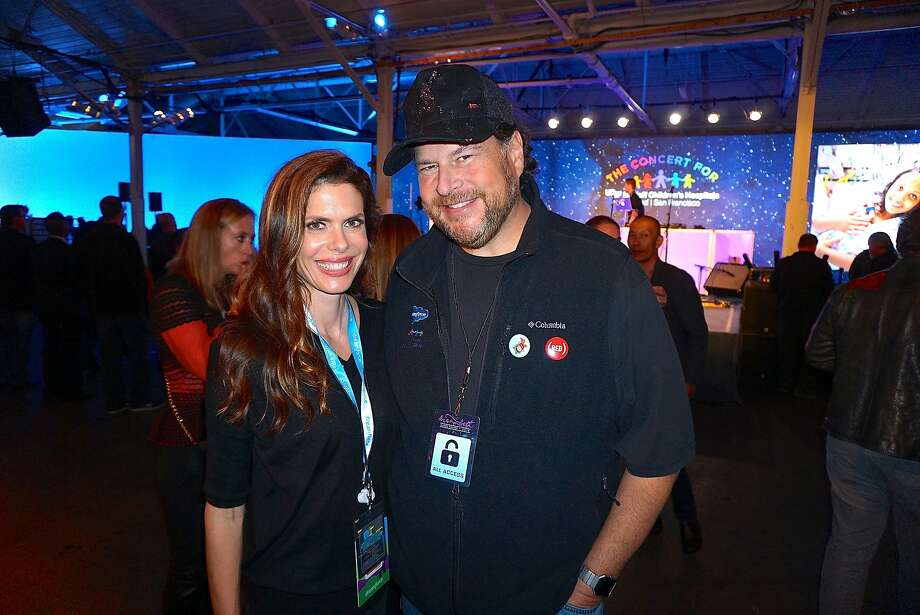 Philanthropist Lynne Benioff and her husband, Salesforce founder-CEO Marc Benioff at their Concert for the Kids at the Cow Palace. Photo: Catherine Bigelow, Special To The Chronicle