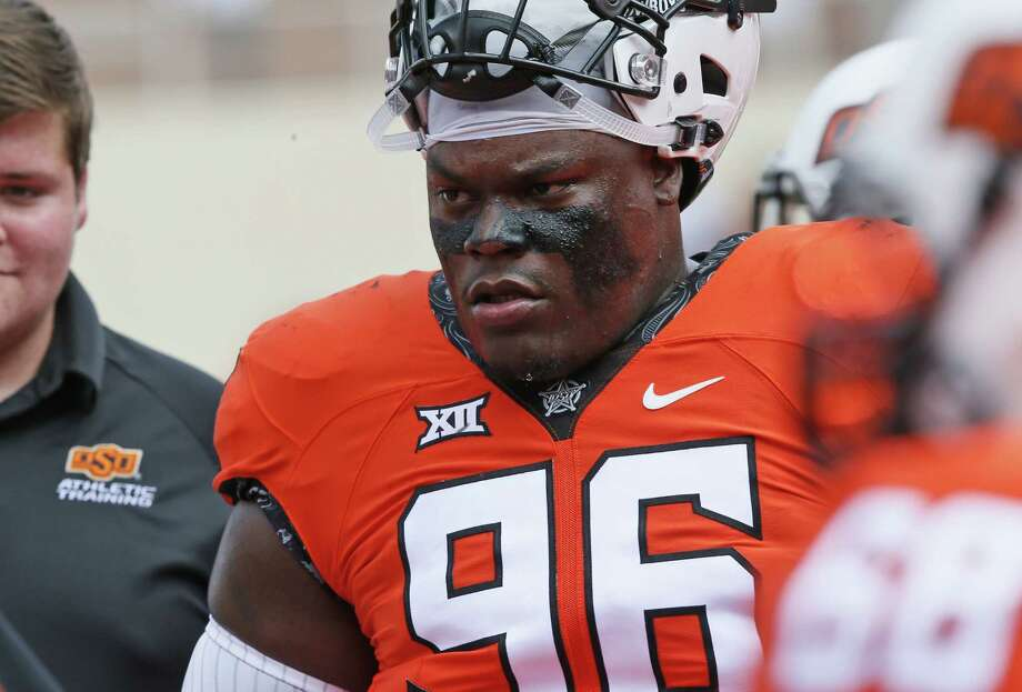 Oklahoma State defensive tackle Vincent Taylor before the game against Southeastern Louisiana in Stillwater on Sept. 3, 2016. Photo: Sue Ogrocki /Associated Press / AP
