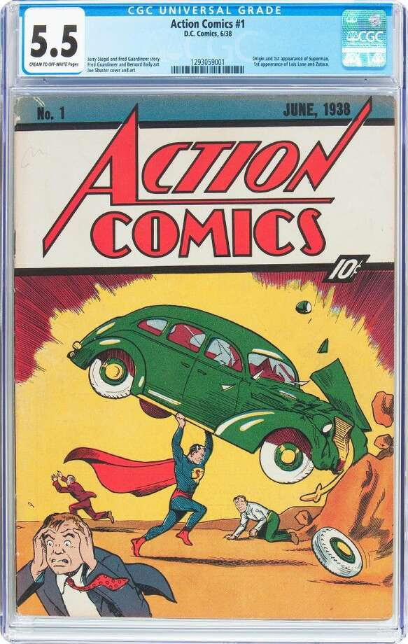 This undated image provided by Heritage Auctions shows a rare copy of Superman's 1938 comic-book.