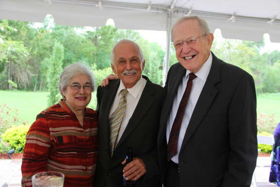 Guests at the 2014 COM Foundation gala. From left Mary Cortinas, Jimmy Cortinas and Hutch Hutchinson. The 50th anniversary gala will be held Sept. 15 and honor COM's distinguished alumni.