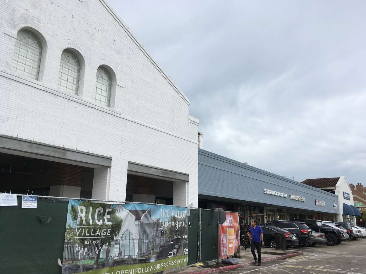 Stores along University Boulevard in Rice Village are getting a new facade as part of a renovation of the shopping district. (file photo)