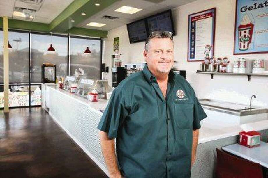John Black, manager and owner of Rita's Italian Ice, poses for a portrait at the Conroe location off of FM 1488. The business, which was founded on the East Coast and serves Italian ice, custard, shakes and sundaes, is seeing a growth of local followers. Photo: Michael Minasi