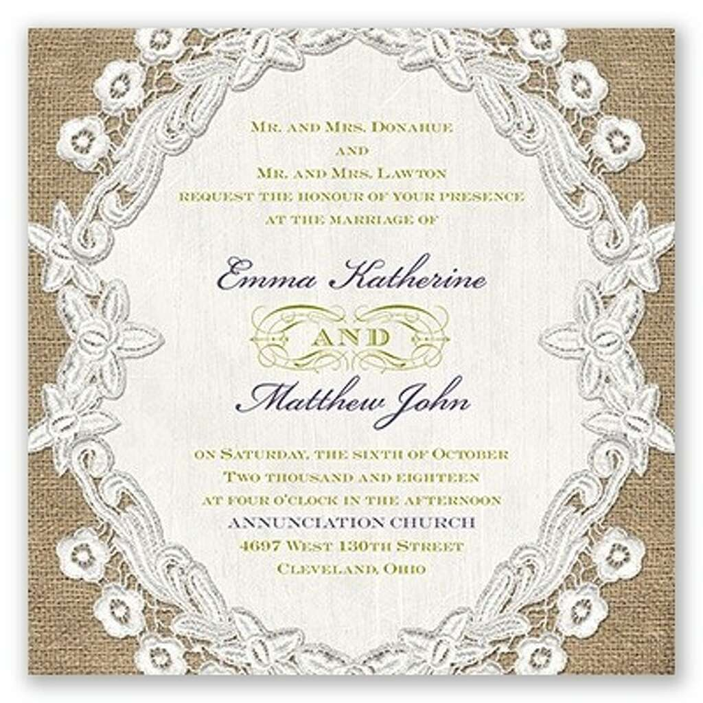 A Sample Invitation From The David Tutera Collection