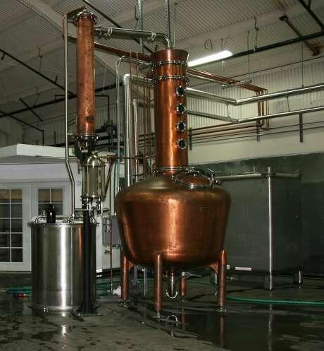 The German-style pot still used at Wright & Brown Distilling Co. Photo: Wright & Brown