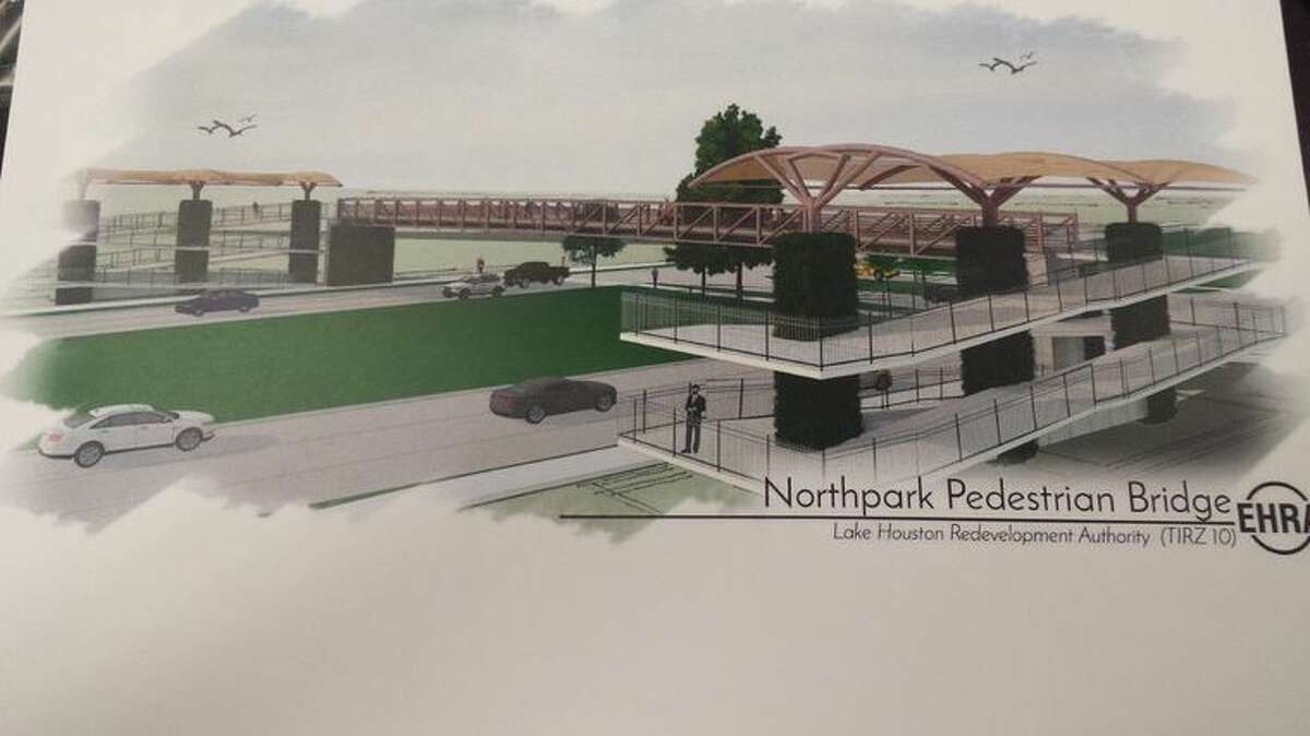 The pedestrian bridge would service students at Kingwood Park High School, Coventry Preparatory School and clients at The Village Learning and Achievement Center.