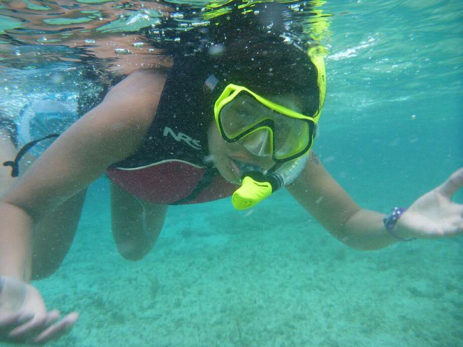 "hornton Middle School alumna and incoming Cypress Lakes High School freshman Laura Gonzalez floats in ""The Cut"" near Cape Eleuthera Institute (CEI) on the island of Eleuthera in The Bahamas July 15-21. Gonzalez and Hamilton Middle School teacher Kristi Pearson attended the research trip as Argonauts through the Chevron-sponsored JASON Learning program."