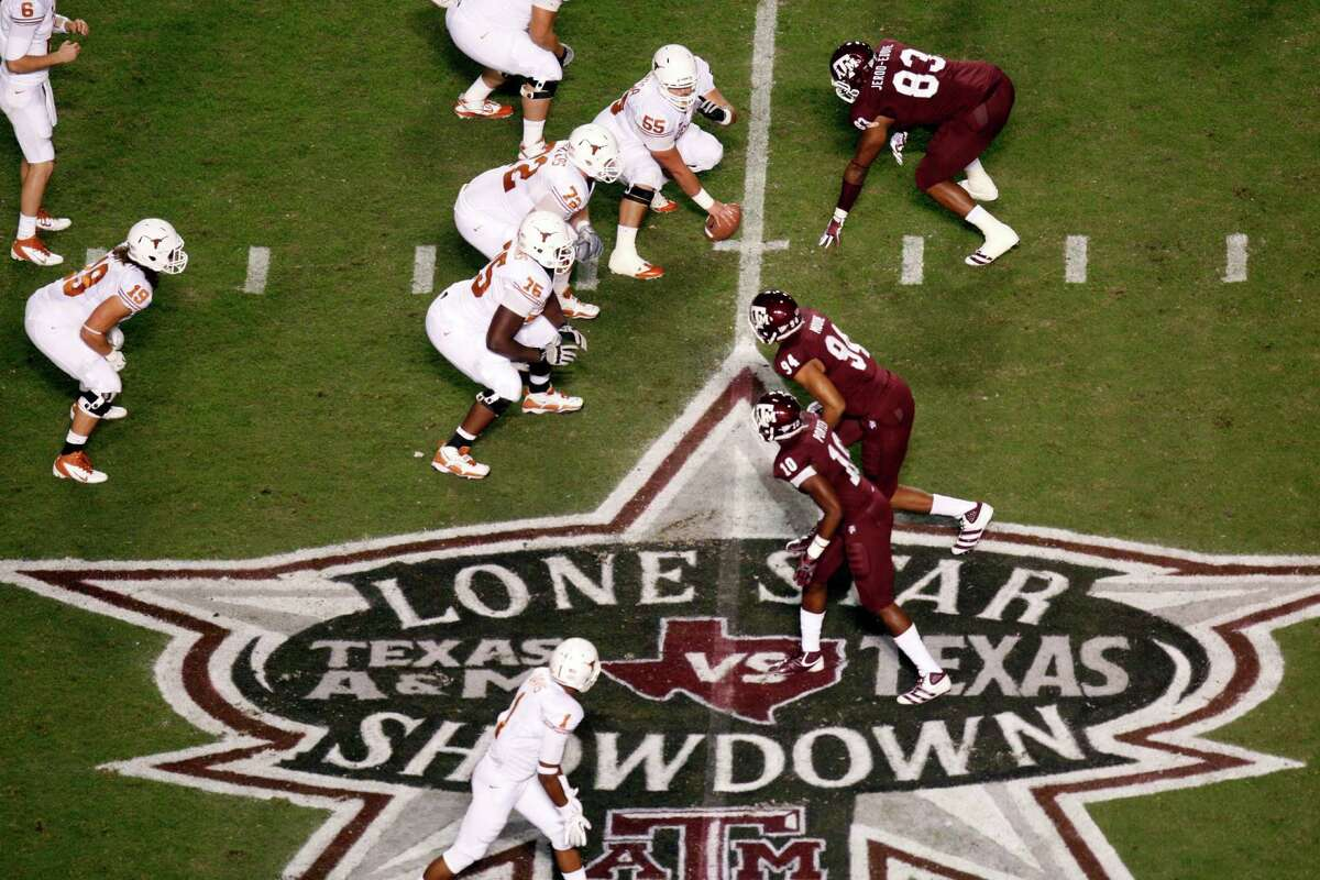 Texas and Texas A&M haven't lined up against each other on a football field since this game in 2011 at College Station's Kyle Field.