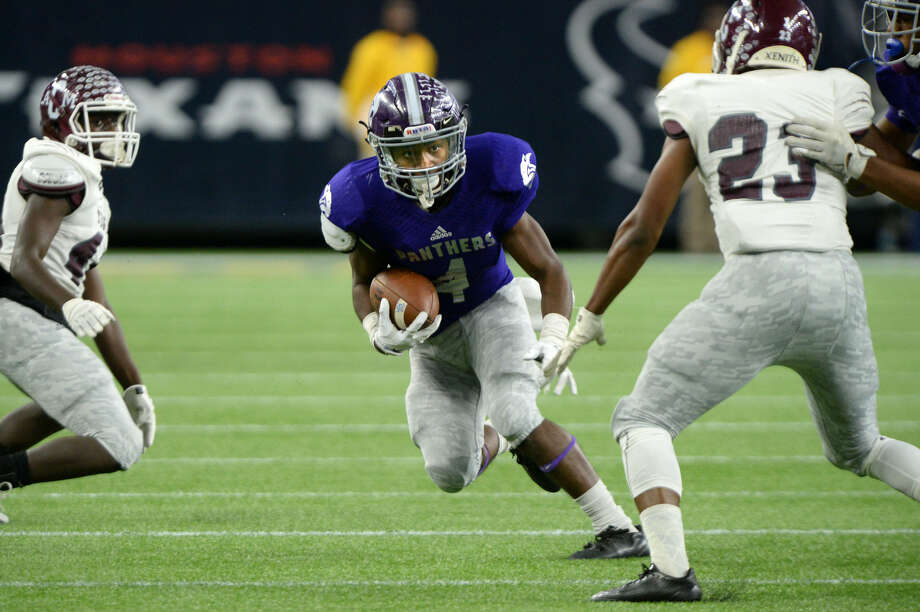 Ridge Point's B.J. Rainford rushes against A&M Consolidated during their 2015 regional semifinal at NRG Stadium in Houston. Rainford was selected for the Touchdown Club of Houston UIL preseason team. To view or purchase this photo and others like it, visit HCNpics.com. Photo: Craig Moseley