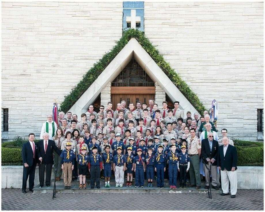 Scout Troop 55 has scheduled an open house on Aug. 28. Founded in 1933 and sponsored by St. John the Divine Episcopal Church, Troop 55 is the largest Boy Scout Troop in the U.S. with 256 registered scouts and 166 registered adults. Photo: Submitted Photo