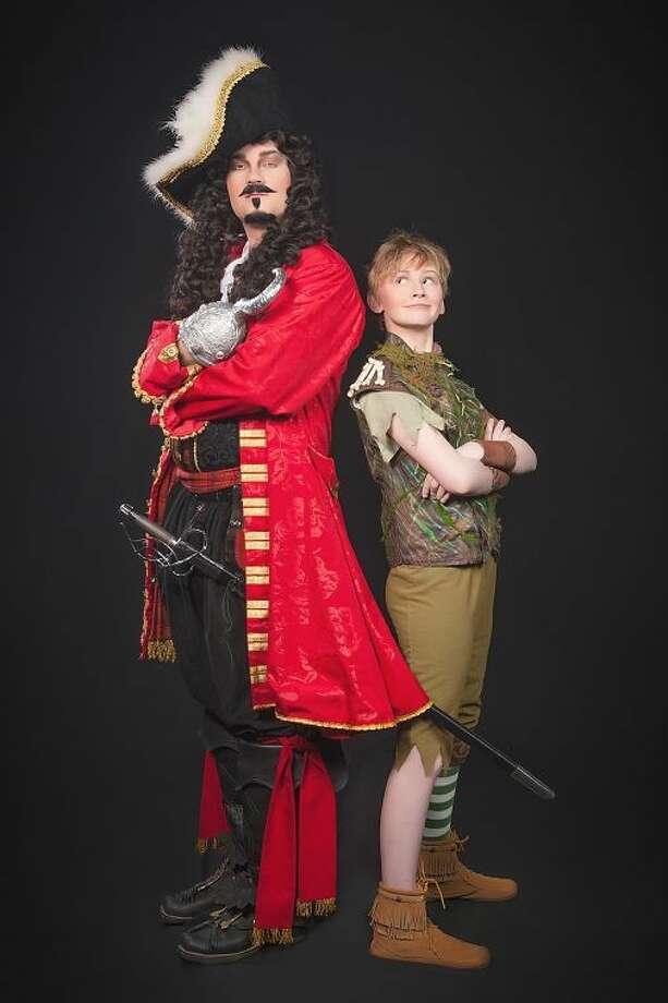 Matt Elliott as Captain Hook and Morgan Montgomery as Peter Pan Photo: Photo Credits: Audree Garcia