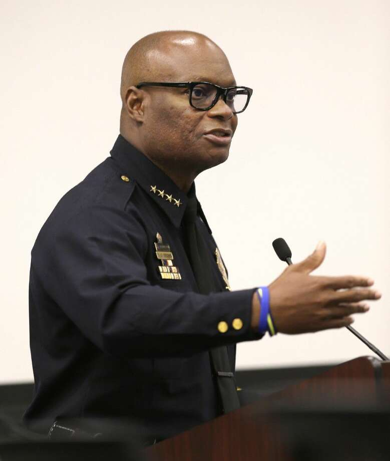 Dallas Police Chief David Brown speaks during a city council budget meeting at Dallas City Hall, Tuesday in Dallas.