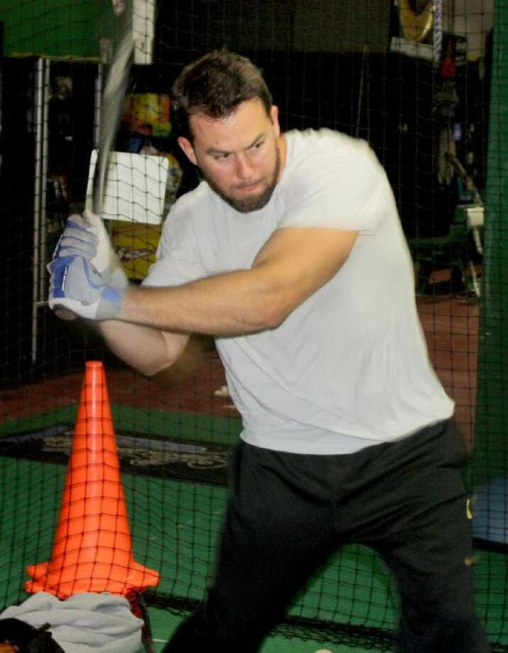 San Francisco Giants manager Bruce Bochy says Brandon Hicks has had a tremendous spring training. Some of that can be attributed to Brandon's work in the batting cages at 3K Sports on Fairmont Parkway last month, preparing for spring training. Photo: Robert Avery