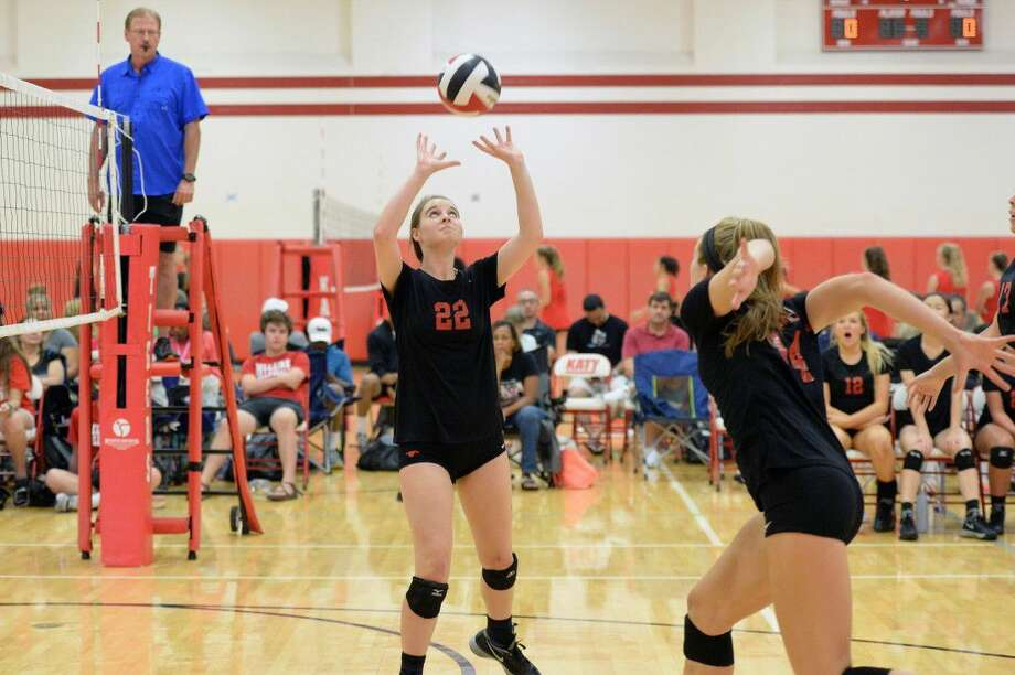 The Memorial volleyball team plays Bellaire during a four-team scrimmage Aug. 6 at Katy High School. The Lady Mustangs begin the 2016 season Aug. 9 at Bellaire. View this and additional photos on HCNPics.com. Photo: Craig Moseley