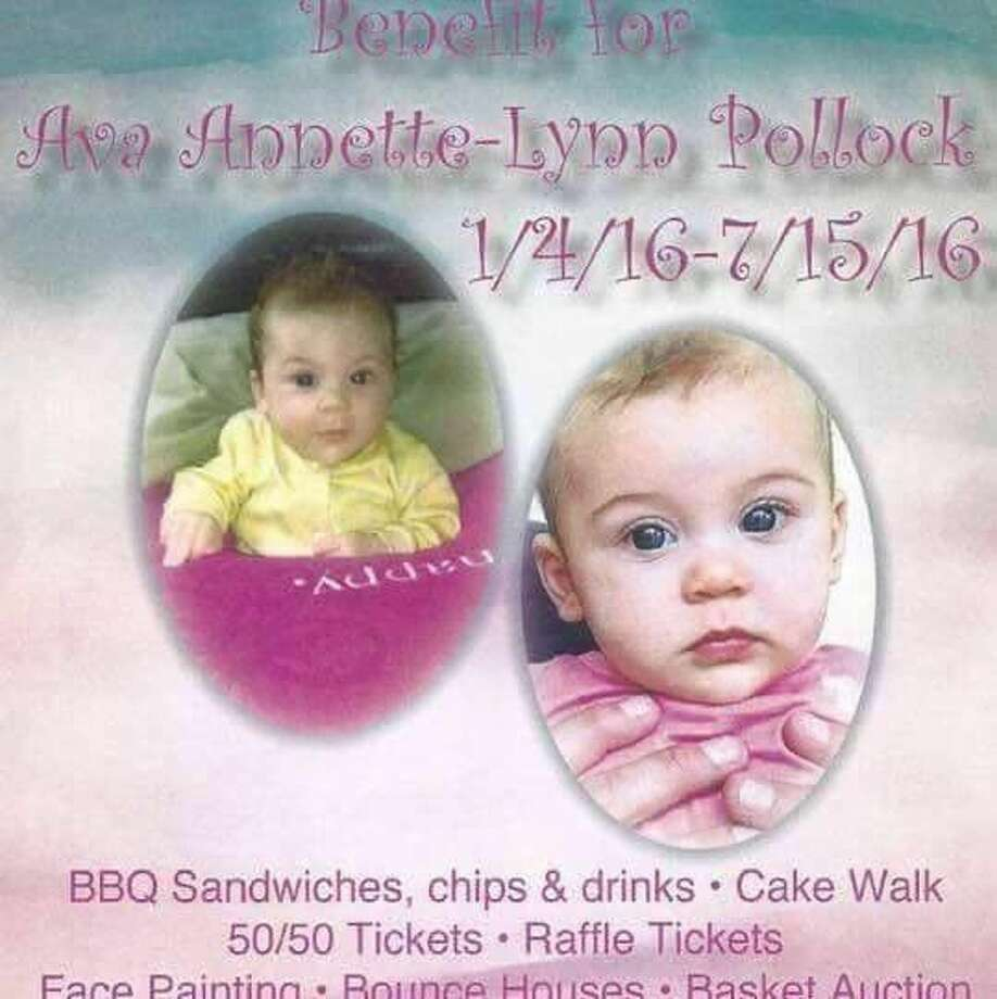 In an effort to raise money for Ava's family for medical and funeral expenses, a benefit will be held in Ava's memory at the Humble Bingo Hall located at 210 W. First Street in Humble Sunday, Aug. 14 from 12-6 p.m.