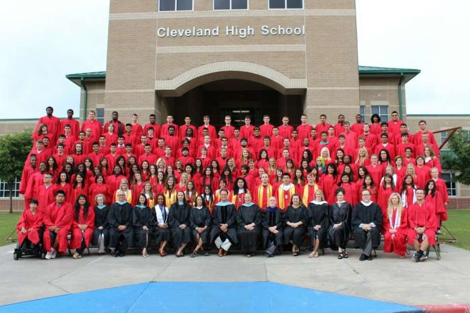 The graduating class of 2014 for Cleveland High School are pictured with their instructors, advisors and administrators.