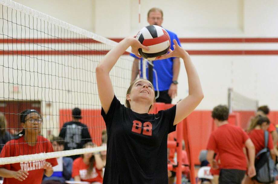 Memorial finished 4-4 at the Adidas Texas Volleyball Invitational in Pearland, ranking 42nd overall. The Lady Mustangs co-host the Spring Branch ISD Tournament Aug. 18-20. View this and additional photos on HCNPics.com. Photo: Craig Moseley
