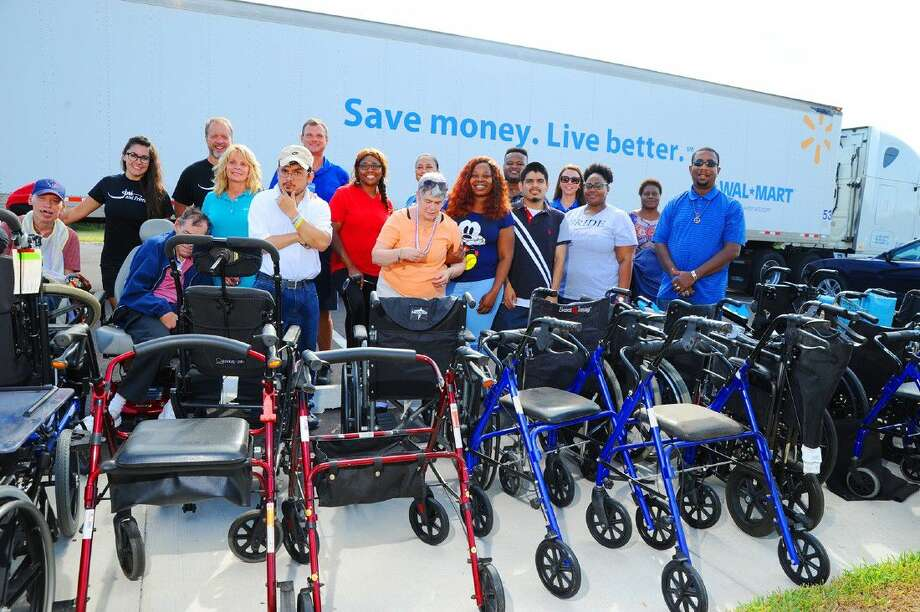 Walmart picked up the donated wheelchairs from Bethesda on Wednesday, August 10. Bethesda Lutheran Communities in Cypress and Joni and Friends Wheels for the World joined together and hosted a community wheelchair drive on Tuesday, August 9. The organizations set a goal of helping more than 100 individuals in need of a wheelchair. Photo: Tony Gaines