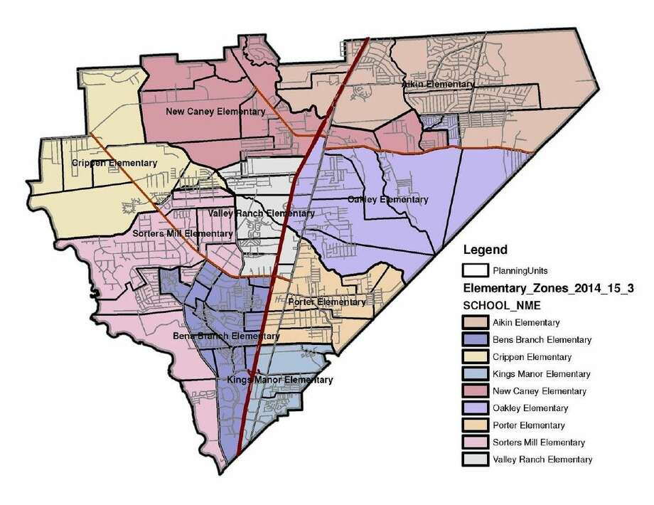 NCISD Elementary schools boundary map for 2015-2016