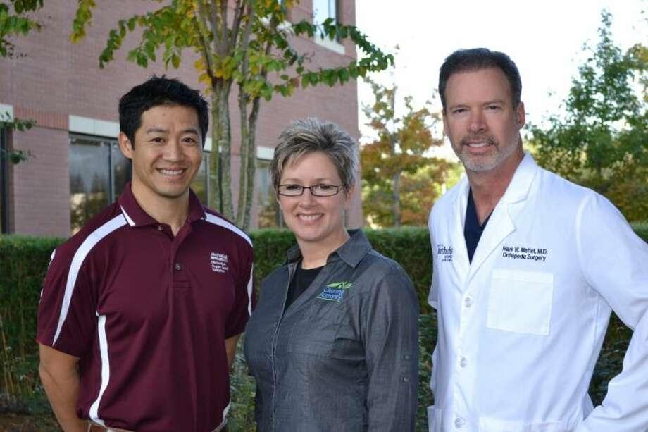 Toko Nguyen, P.T., Amy Statler and Mark Maffet, M.D. Photo: Courtesy HMSLH