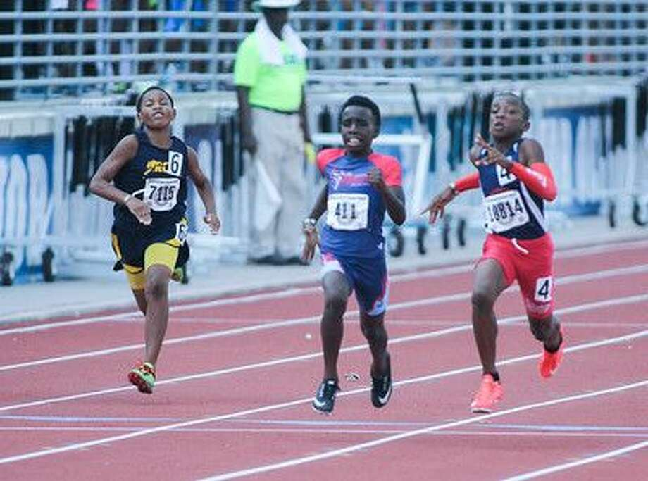 Atascocita Titans sprinter Tory Blaylock won national championships in the 100-meter dash (12.99 seconds) and 200-meter dash (26.47) in boys 10-year-old division at the AAU Junior Olympics, July 30-Aug. 6 at Turner Stadium in Humble. Photo: Submitted Photo