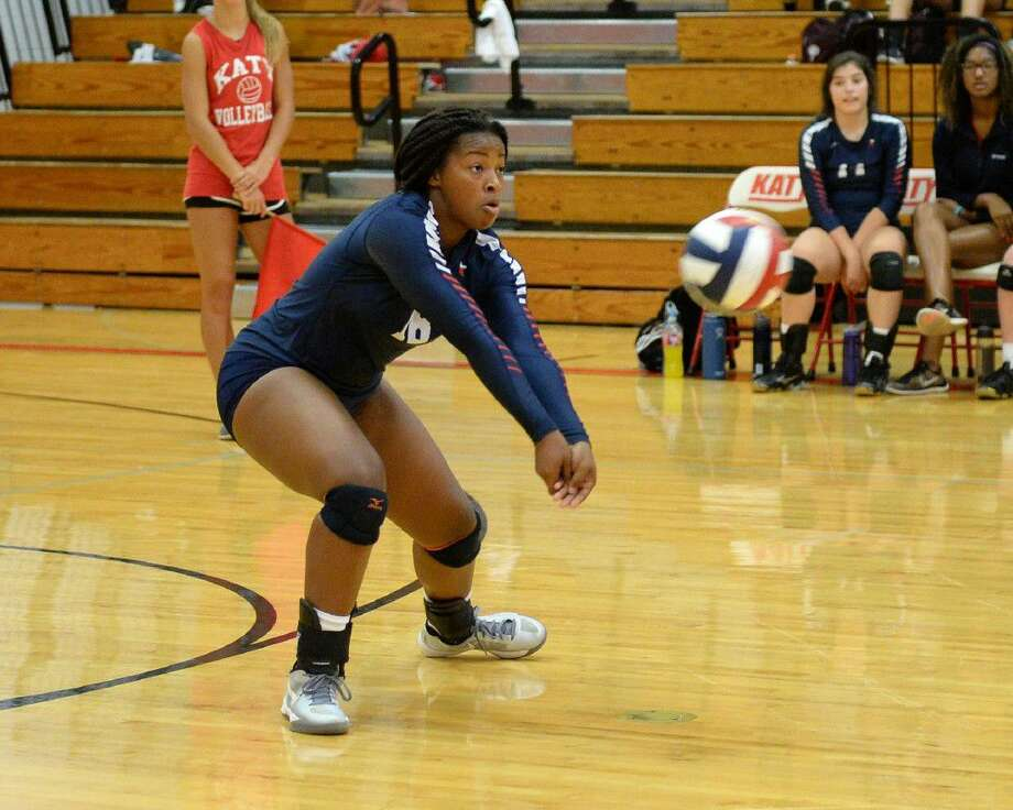 Lamar's Jaz'myne Perry makes a dig against Katy during the 2016 Nike Volleyball Classic, Aug. 11 at Katy High School. The Lady Texans finished strong and reached their bracket final. View additional photos at HCNPics.com. Photo: Craig Moseley