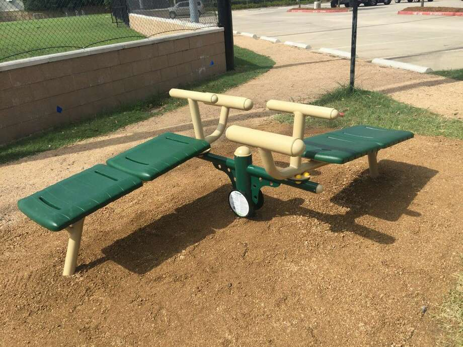 Outdoor fitness stations have been installed at the West University Place Recreation Center. Photo: Submitted Photo