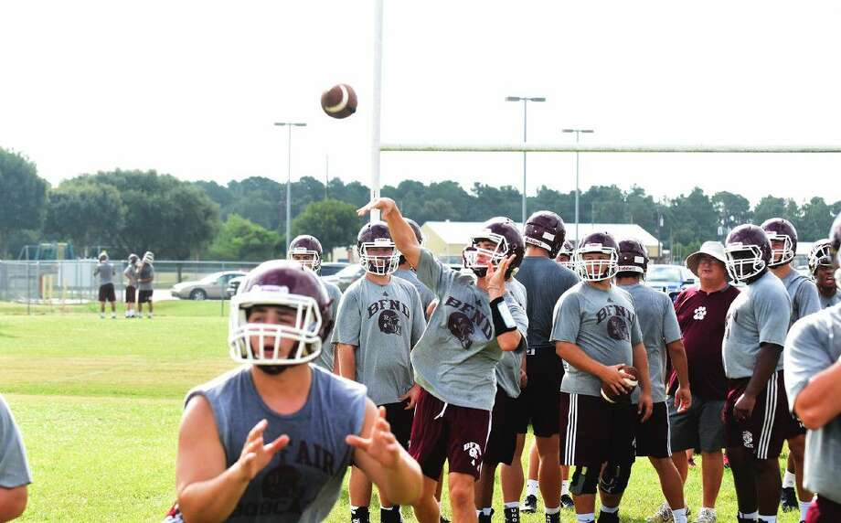 Cy-Fair starting quarterback, junior Cameron Arnold, has impressed head coach Ed Pustejovsky with his offseason work and is ready to pick up where he left off last season. With all the offensive talent returning around him, Arnold finds himself in a great situation with the season looming. Photo: Tony Gaines