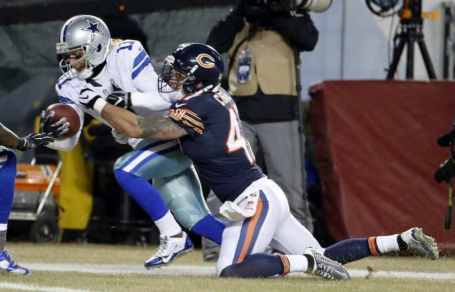 Dallas Cowboys wide receiver Cole Beasley had two touchdown catches against the Bears last week.