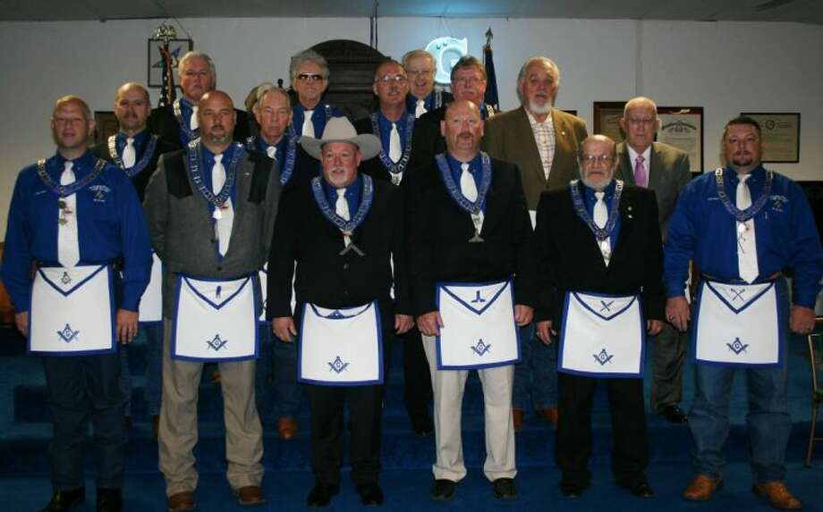 On Saturday, July 5, the new officers with the Tarkington Prairie Masonic Lodge #498 were welcomed with an officer installation ceremony. Photo: STEPHANIE BUCKNER