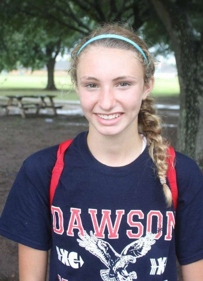 The Pasadena ISD cross country runners will have this young lady to contend with now that Pearland Dawson is in the district. Abbie Harrelson, who nearly won the South Dakota state championship as a seventh grader, earned a 4A state berth last November. Photo: Robert Avery