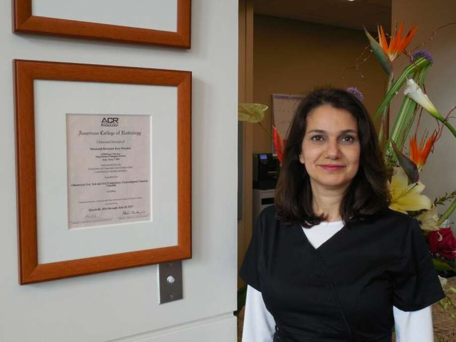 Ultrasound Lead Technologist Lina Zaza, BSRT, ARDMS, pictured with the certificate of accreditation. Photo: Submitted Photo