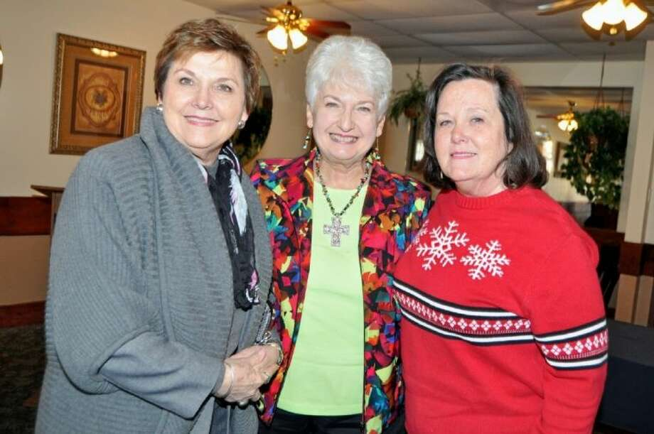Rotary Ann's enjoy the crisp chilly day in January at their monthly meeting at Peppers. Pictured from left are Carol Wilson, Bo Ogden and Barbara Clark. Photo: JACKIE WELCH