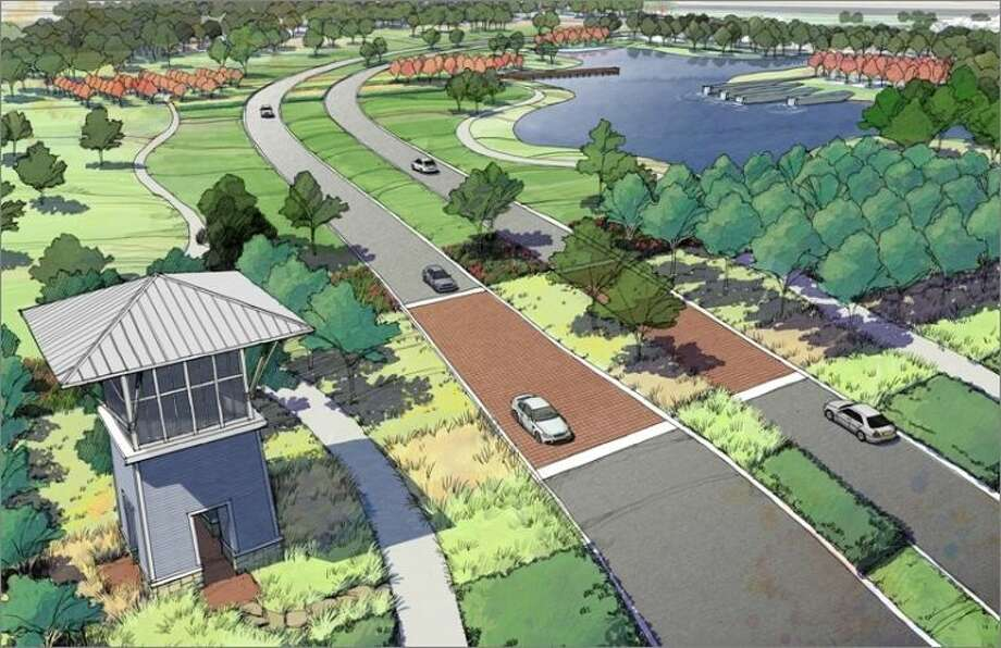 An artist's rendering of Pomona, the master planned community planned for Manvel.